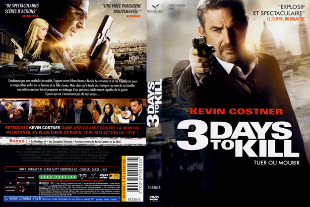 Jaquette DVD 3 days to kill