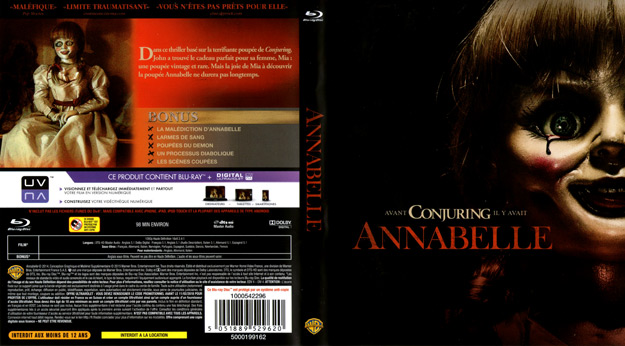 Jaquette DVD annabelle blu ray