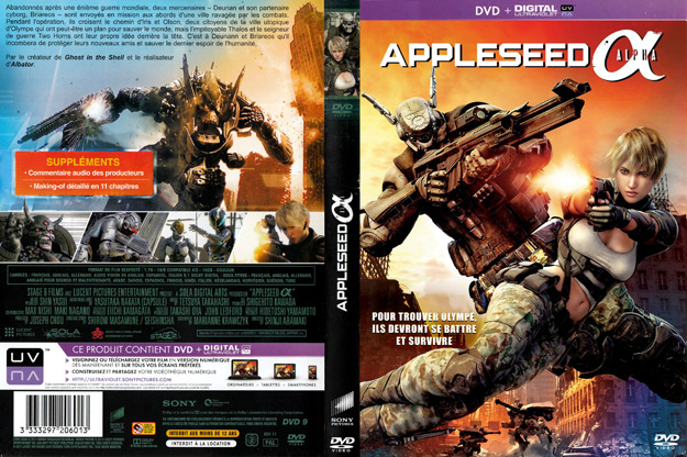Jaquette DVD appleseed alpha