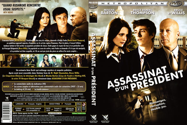 jaquette dvd assassinat d un president