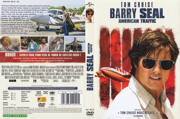 jaquette dvd barry seal american traffic