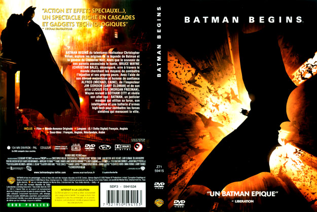 jaquette dvd batman begins