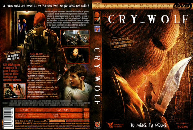 jaquette dvd cry wolf