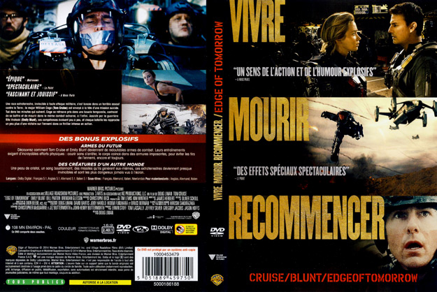 jaquette dvd edge of tomorrow vivre mourir recommencer