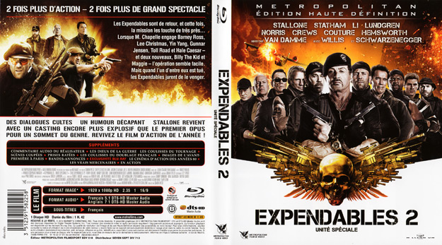 jaquette dvd expendables 2 blu ray