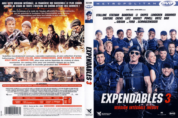 Jaquette DVD expendables 3