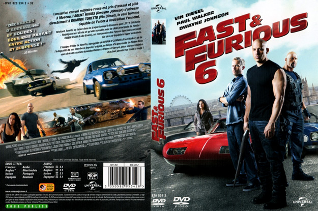 jaquette dvd fast and furious 6. Black Bedroom Furniture Sets. Home Design Ideas