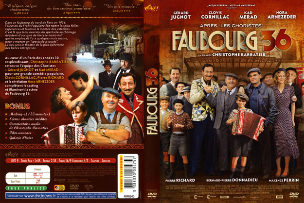 jaquette dvd faubourg 36