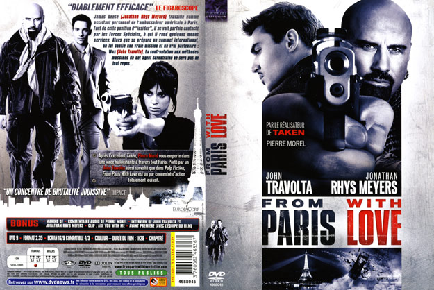 jaquette dvd from paris with love
