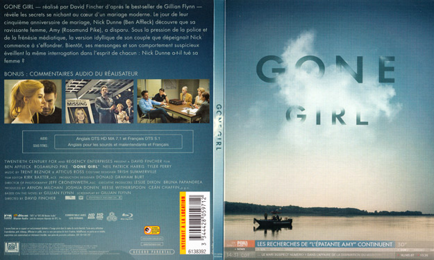 jaquette dvd gone girl