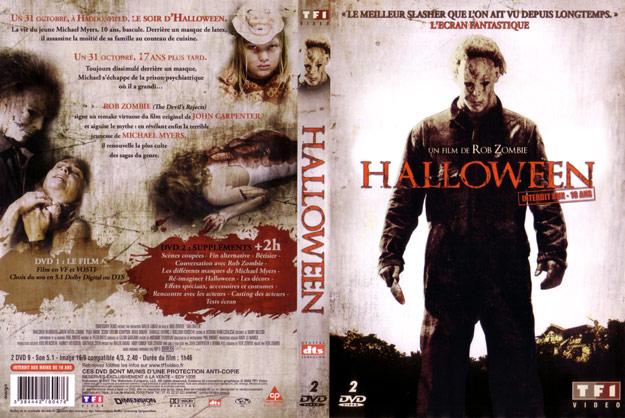 jaquette dvd halloween rob zombie