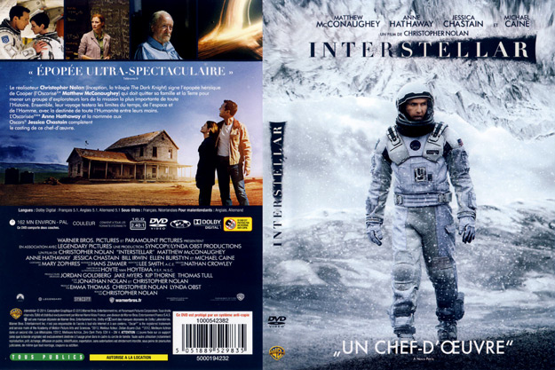 jaquette dvd interstellar