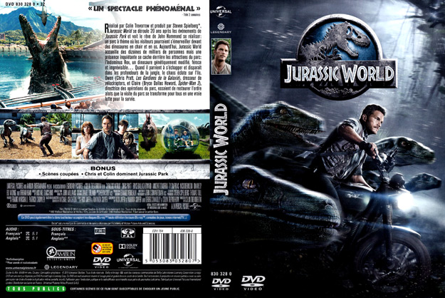 jaquette dvd jurassic world