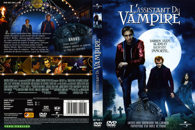 jaquette dvd l assistant du vampire. Black Bedroom Furniture Sets. Home Design Ideas