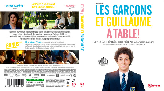 jaquette dvd les garcons et guillaume a table