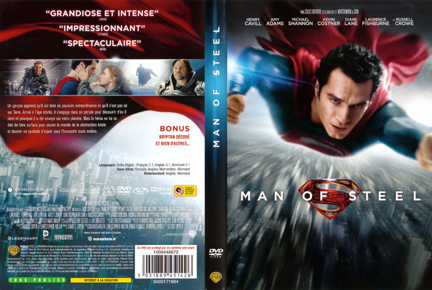 jaquette dvd man of steel