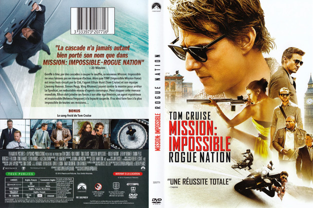 Jaquette DVD mission impossible rogue nation