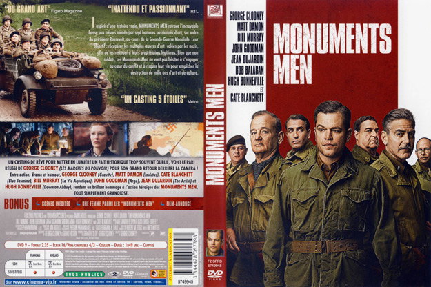 jaquette dvd monuments men