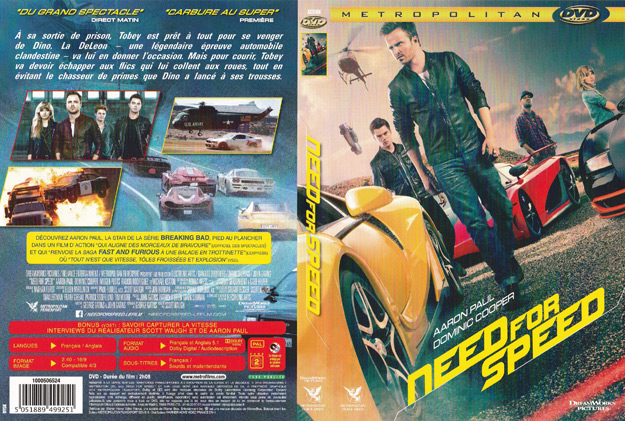 Jaquette DVD need for speed