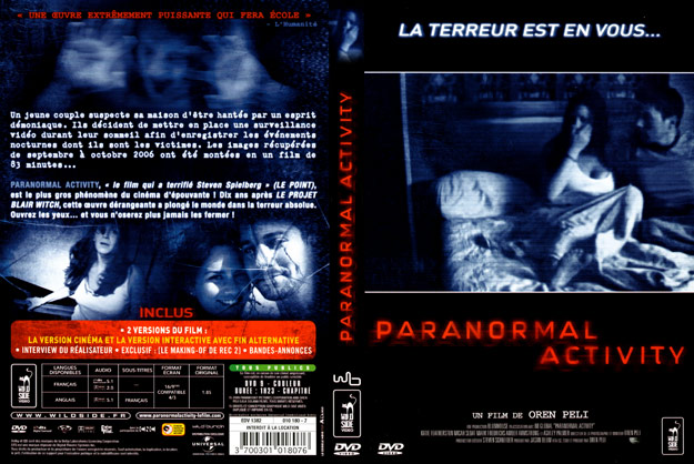 jaquette dvd paranormal activity