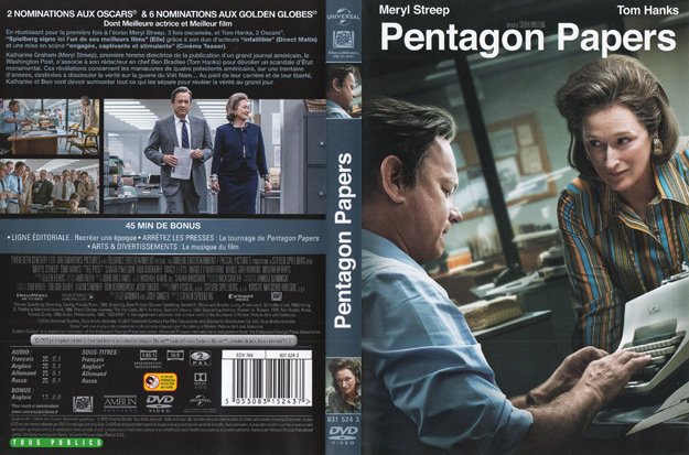 jaquette dvd pentagon papers