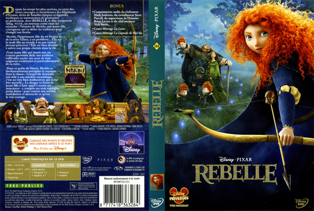 Jaquette DVD Rebelle | Absolutecover.com