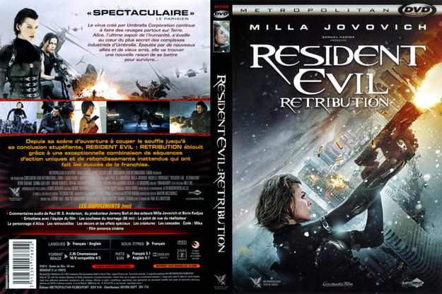jaquette dvd resident evil retribution