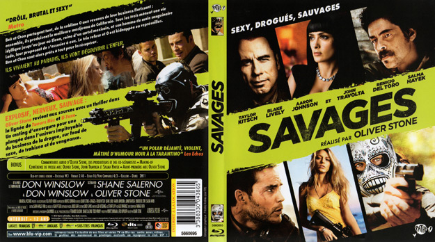 jaquette dvd savages blu ray