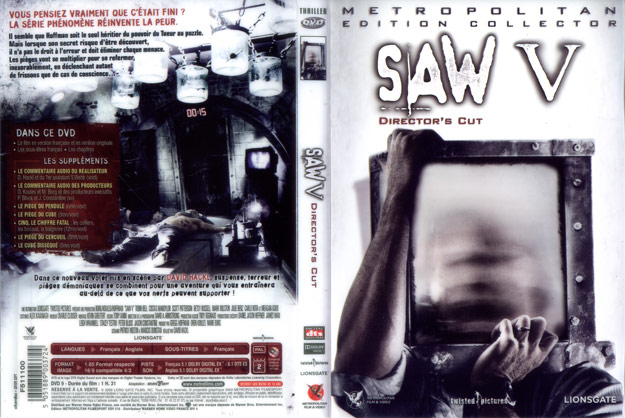 jaquette dvd saw 5