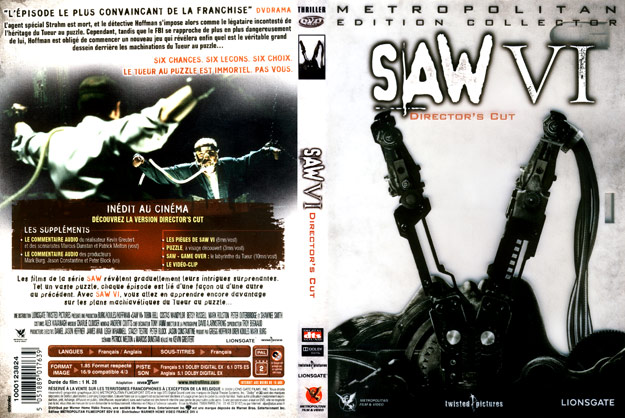 jaquette dvd saw 6