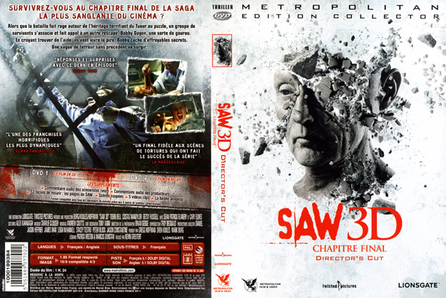 jaquette dvd saw 7