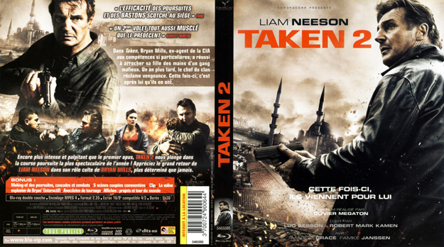 Jaquette DVD Taken 2 Blu-Ray