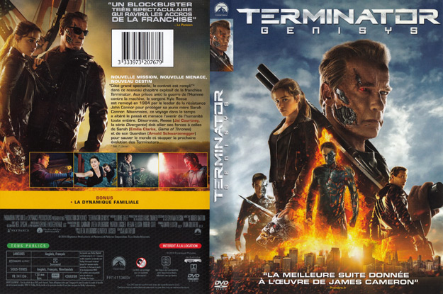 Jaquette DVD terminator genisys