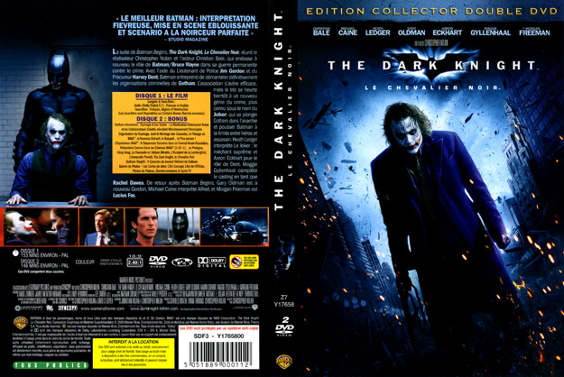 jaquette dvd the dark knight collector