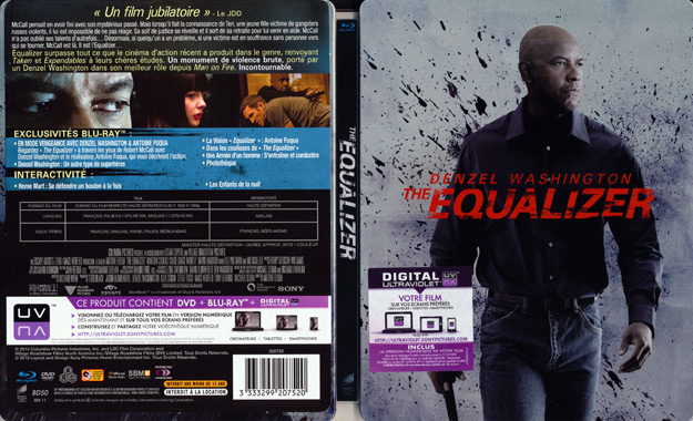 Jaquette DVD the equalizer blu ray