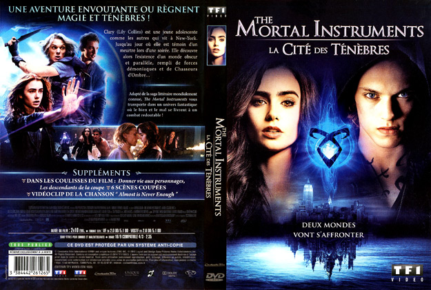 Jaquette DVD the mortal instruments la cite des tenebres