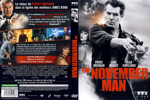 Jaquette DVD the november man