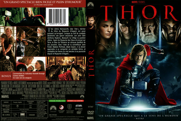 jaquette dvd thor
