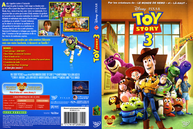 jaquette dvd toy story 3